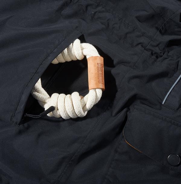 Belcando-Funktionsjacke-Rückentasche